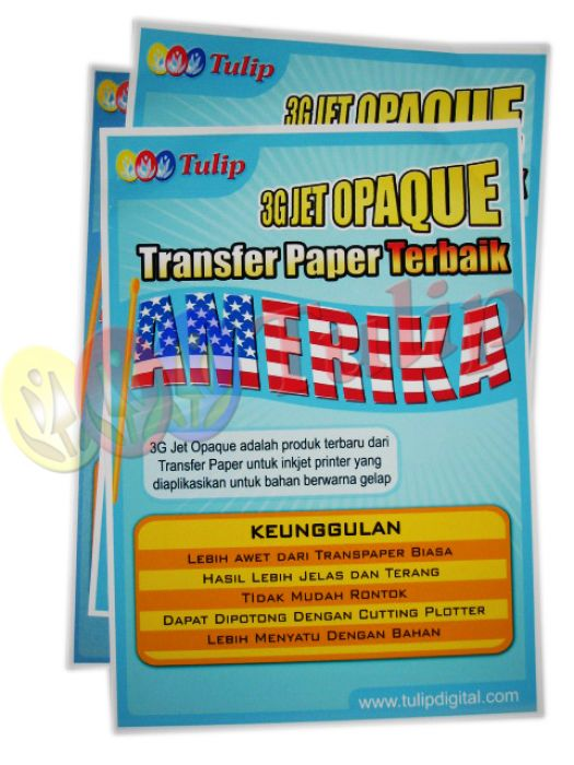 Transfer Paper 3G Jet Opaque @5 lbr