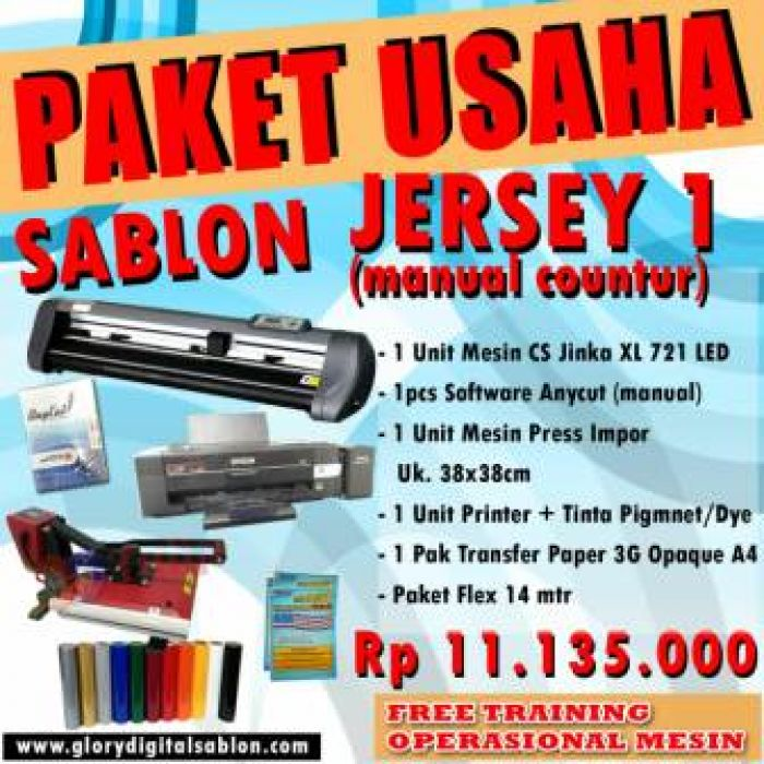 PAKET SABLON JERSEY 1 (Manual Contour)