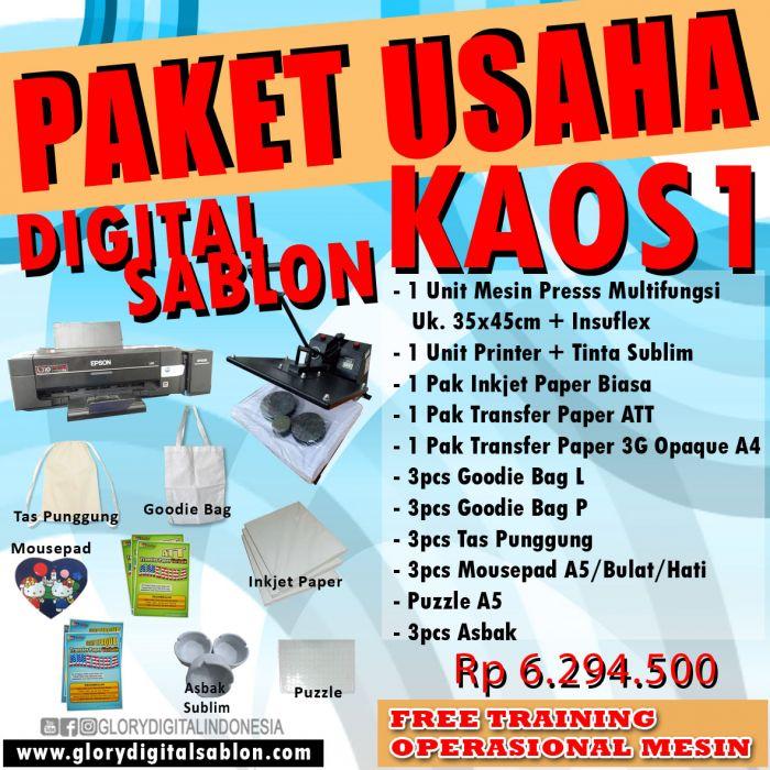PAKET DIGITAL SABLON KAOS 1